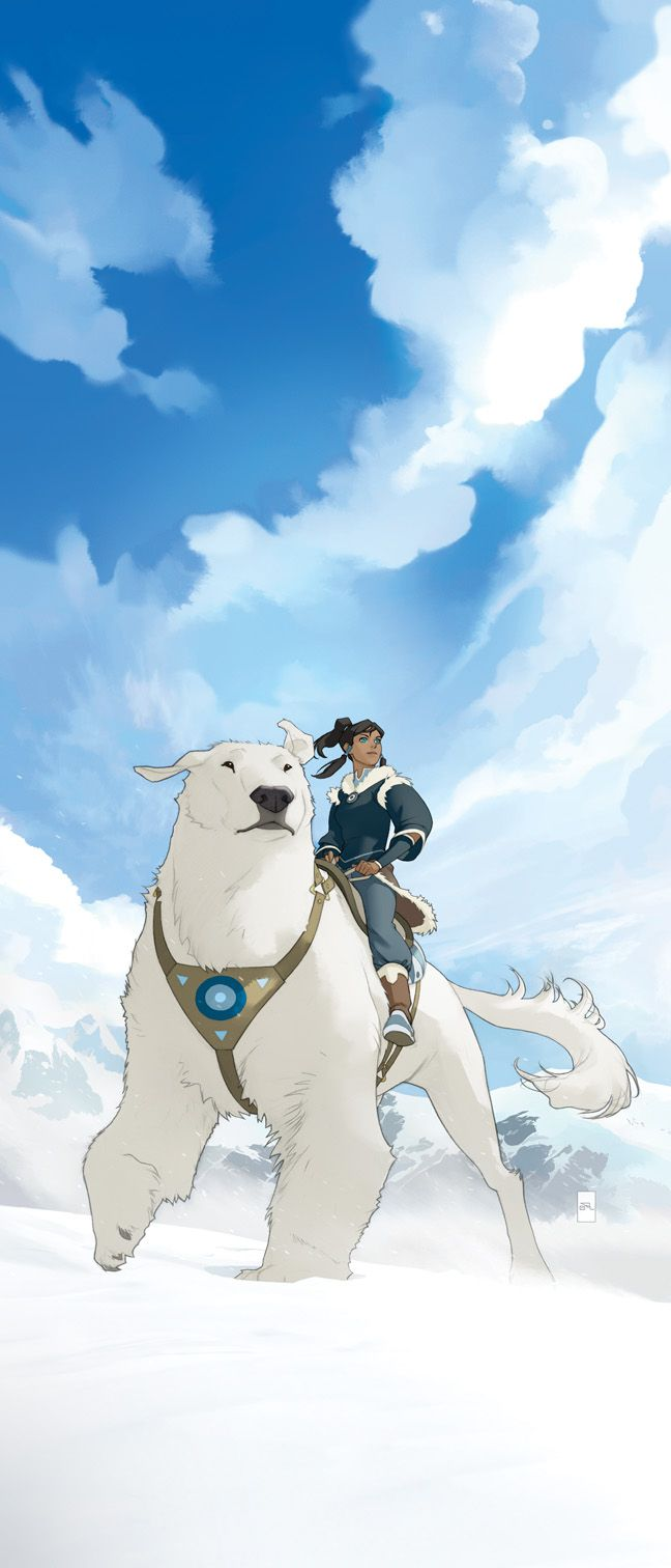 polar bear dog!  Legend of Korra
