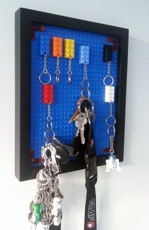 Lego-Schlüsselbrett - einfach und bunt | Schlüsselbretter, Lego und Bunt