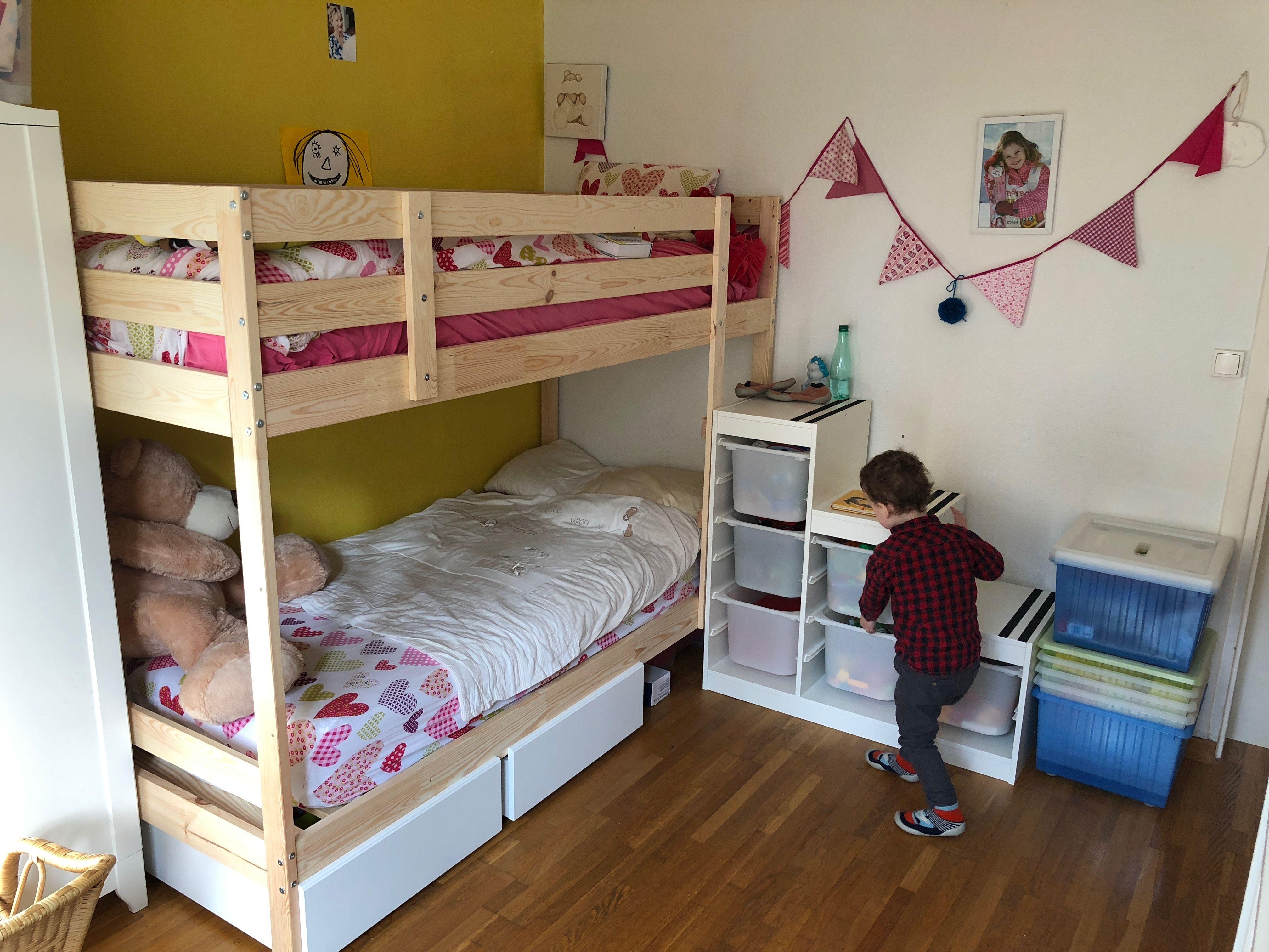 Lit Superposé Marche Escalier lit superposé avec descente ikea trofast #diy pour chambre