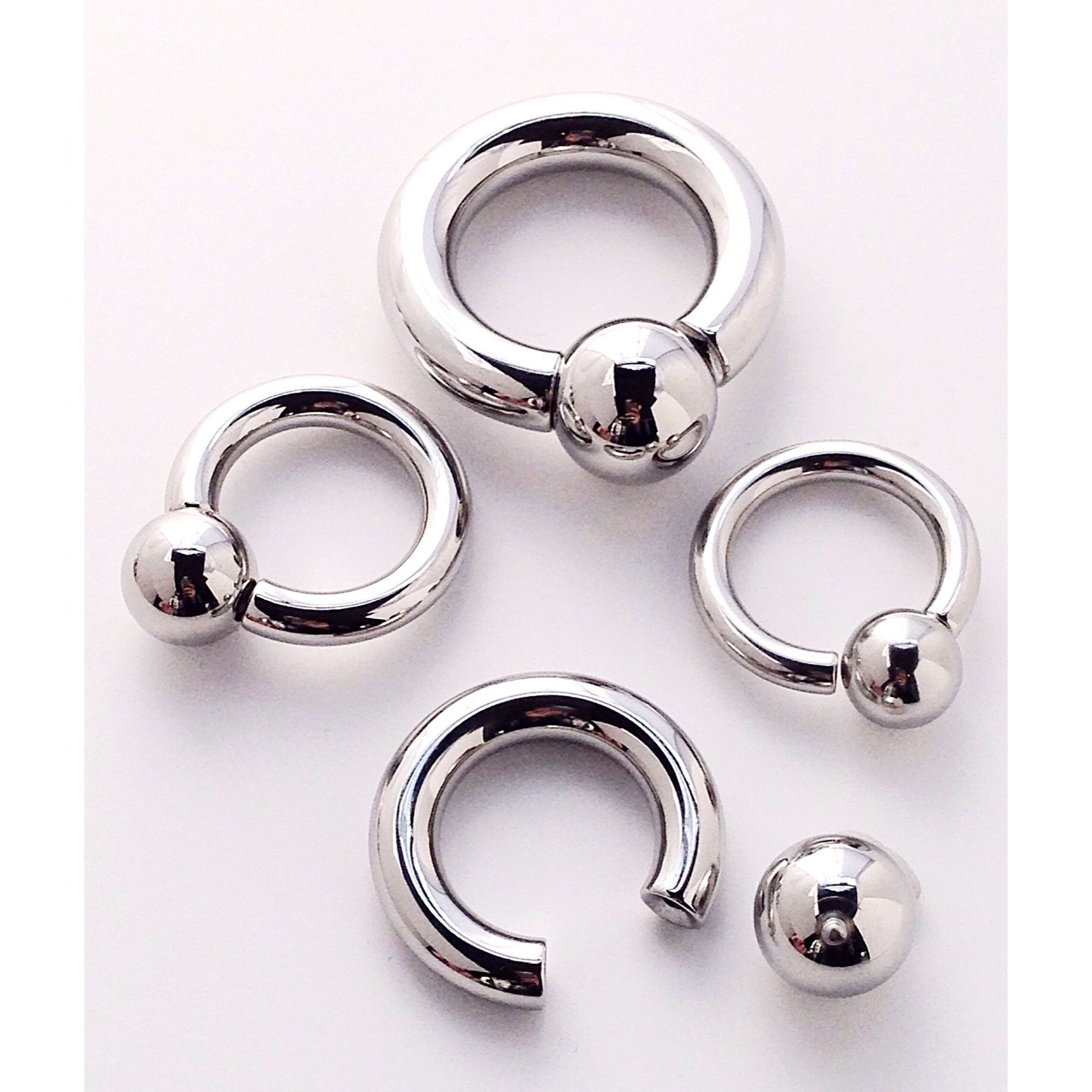 Screw on ball rings great for PA piercings   Jewelry