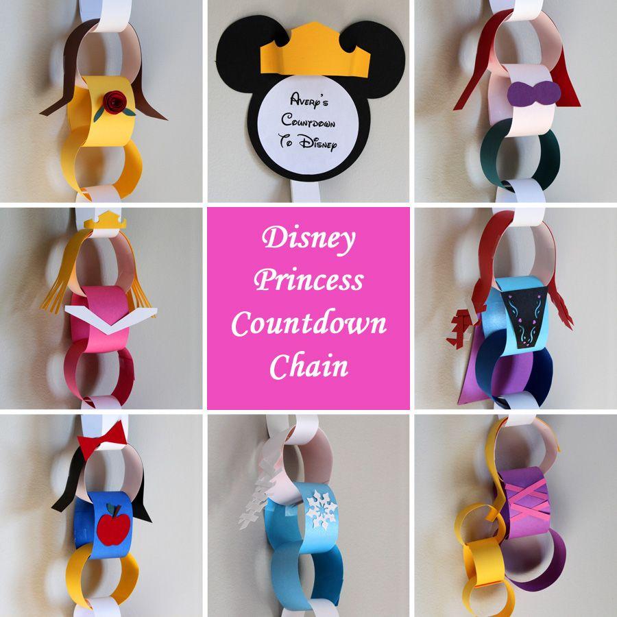Disney Princess Countdown Chain (Elsa, Anna, Aurora, Belle, Snow ...