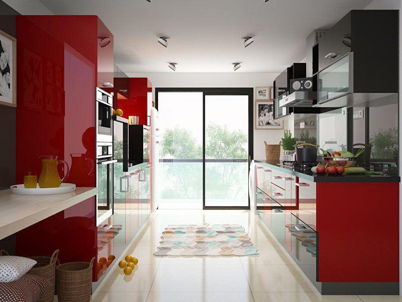 peach parallel modular kitchen parallelmodularkitchen parallelmodularkitchendesign on kitchen interior parallel id=18868