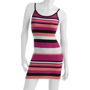 No Boundaries Juniors Striped Tank Dress With Adjustable Straps