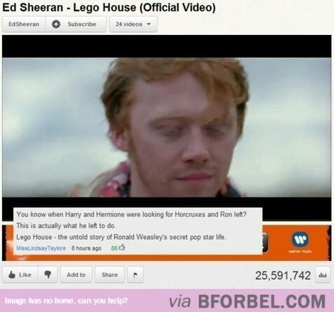 Ron Went Off To Build A Lego House…