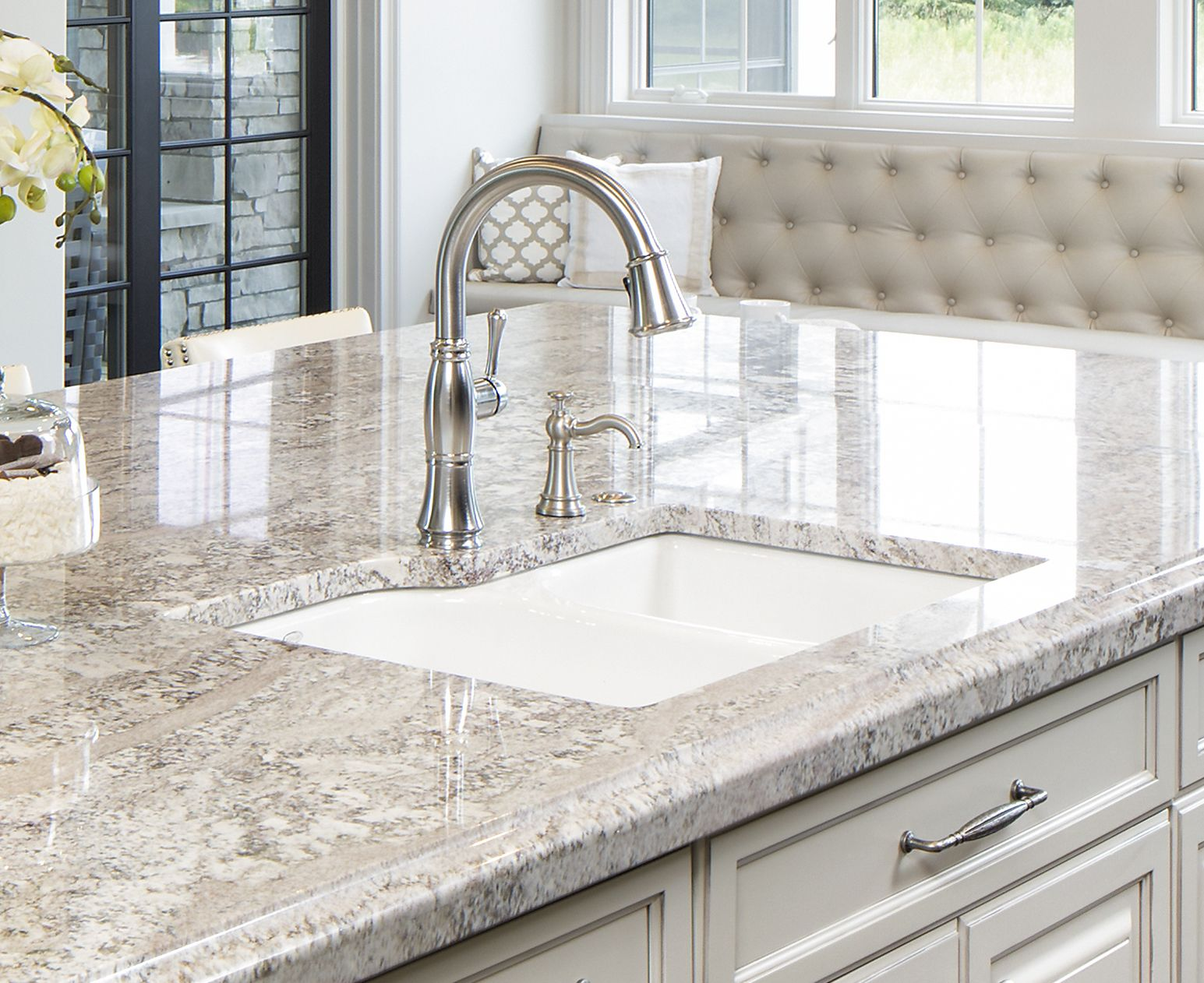 Kitchen Planning Which Sink Is Suitable For A Granite Countertop In 2020 Grey Granite Countertops Granite Countertops Colors White Granite Countertops