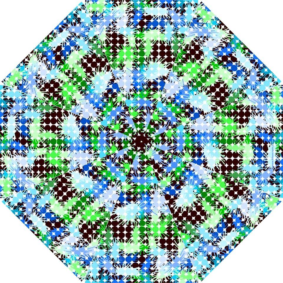 """""""Blue Green Watercolor Blubbles"""" by Khoncepts,  Hook Handle Umbrella (Medium)  $41.99"""