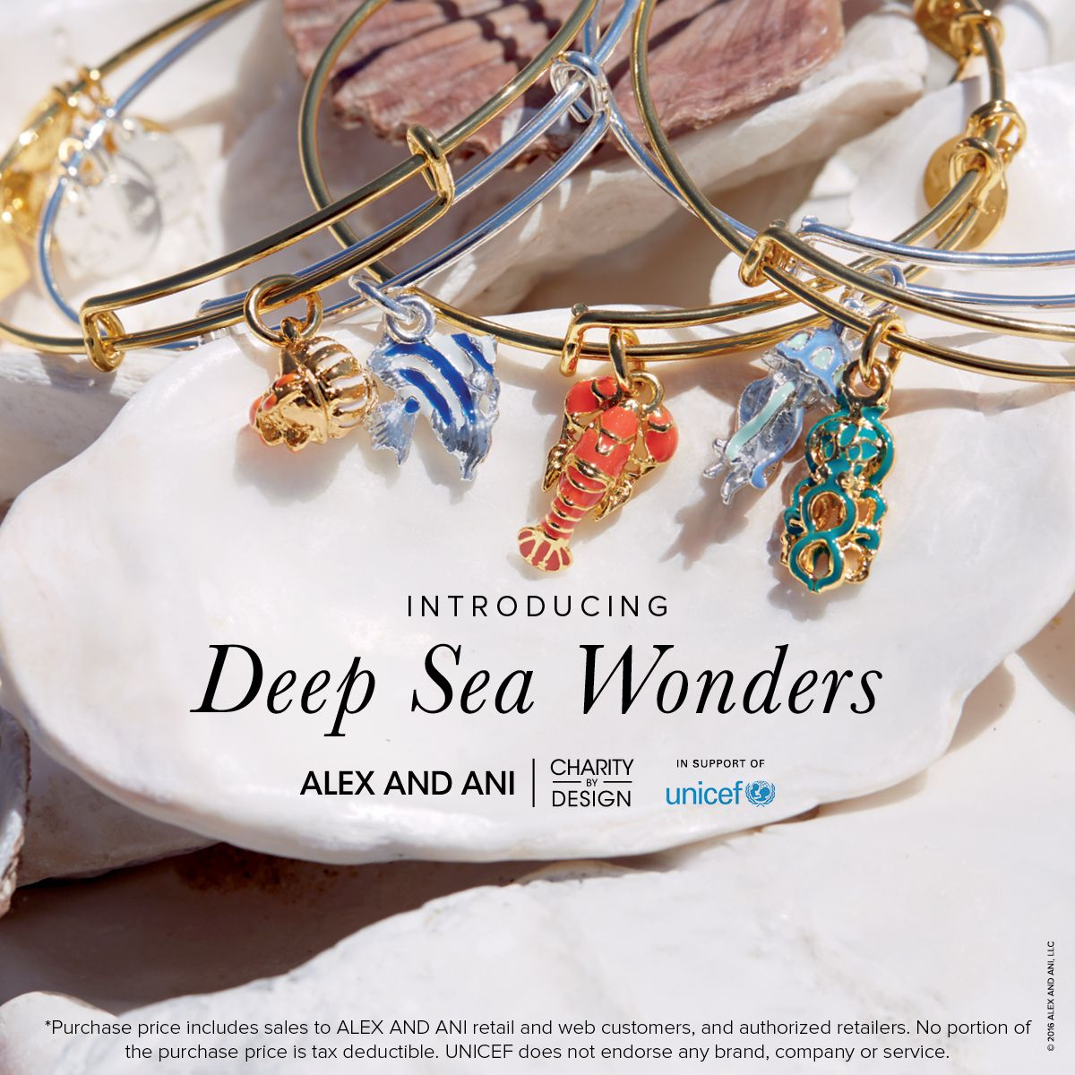 Celebrate the joys of the ocean and support Unicef with the new Summer Deep Sea Wonders Collection | Alex and Ani Charity by Design