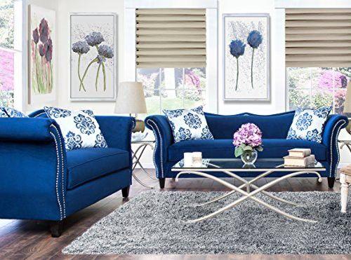 Peachy Furniture Of America 2 Piece Athena Glamorous Sofa Set Creativecarmelina Interior Chair Design Creativecarmelinacom