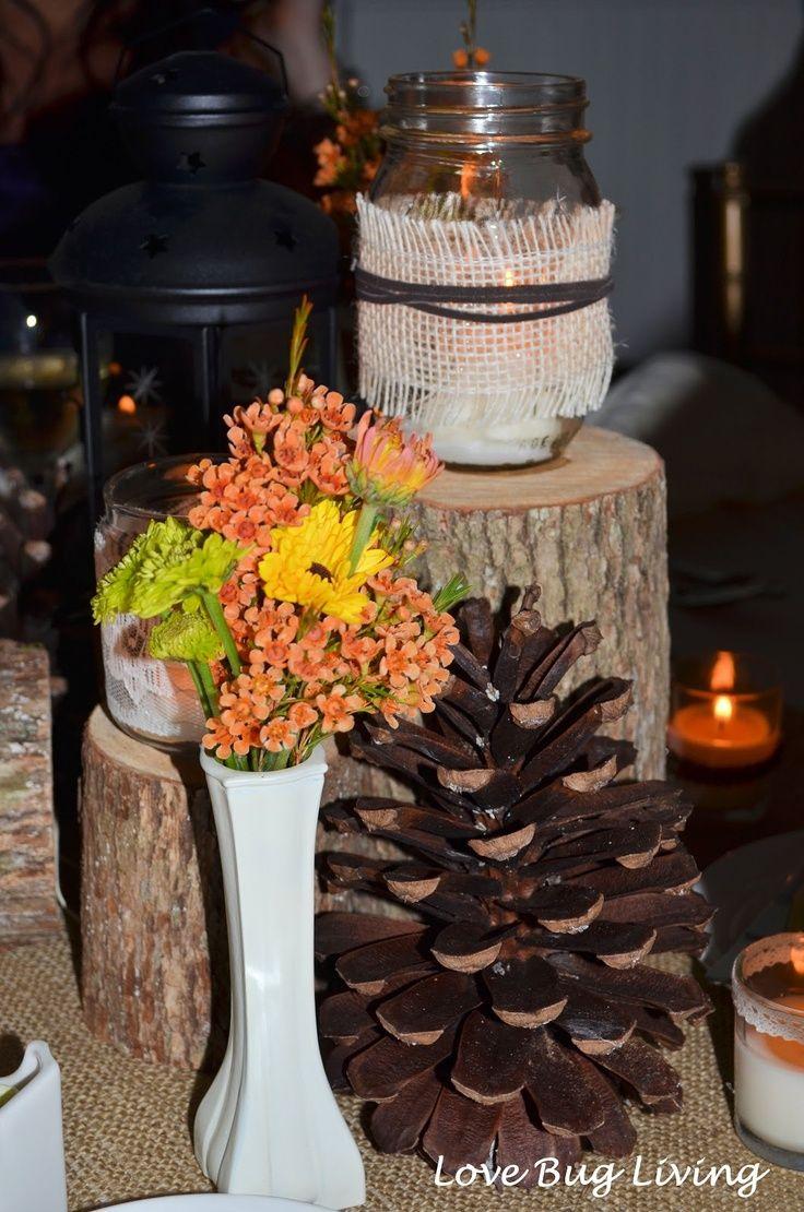 Diyfallthemedcenterpieces Rustic Fall Themed Wedding