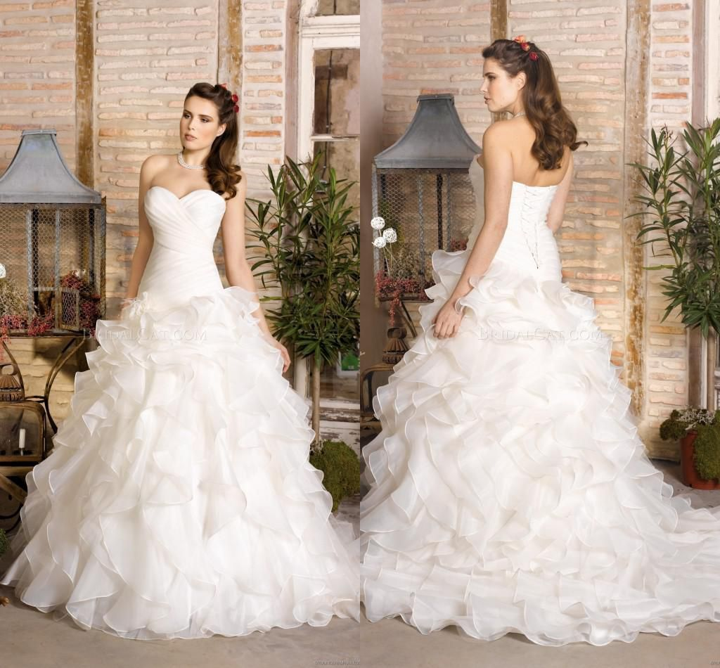 2014 New Strapless Sweetheart Ball Gown Plus Size Ball Gown Wedding Dresses | Buy Wholesale On Line Direct from China