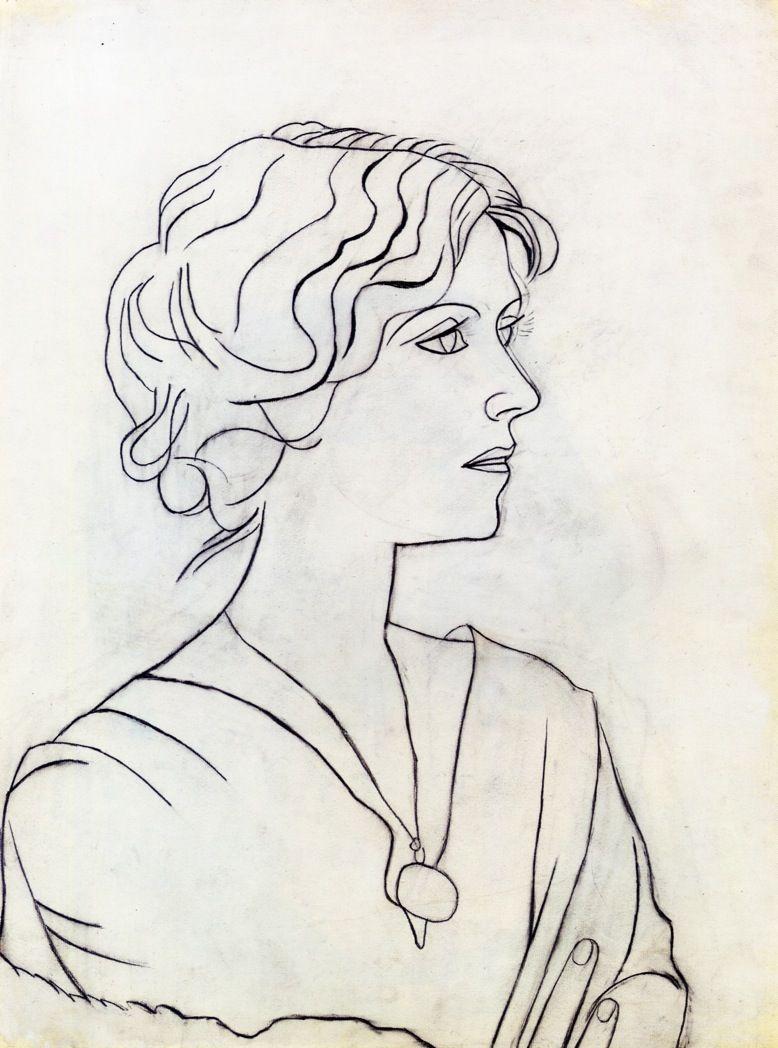Portrait of olga via pablo picasso size 62 2x45 7 cm medium pencil