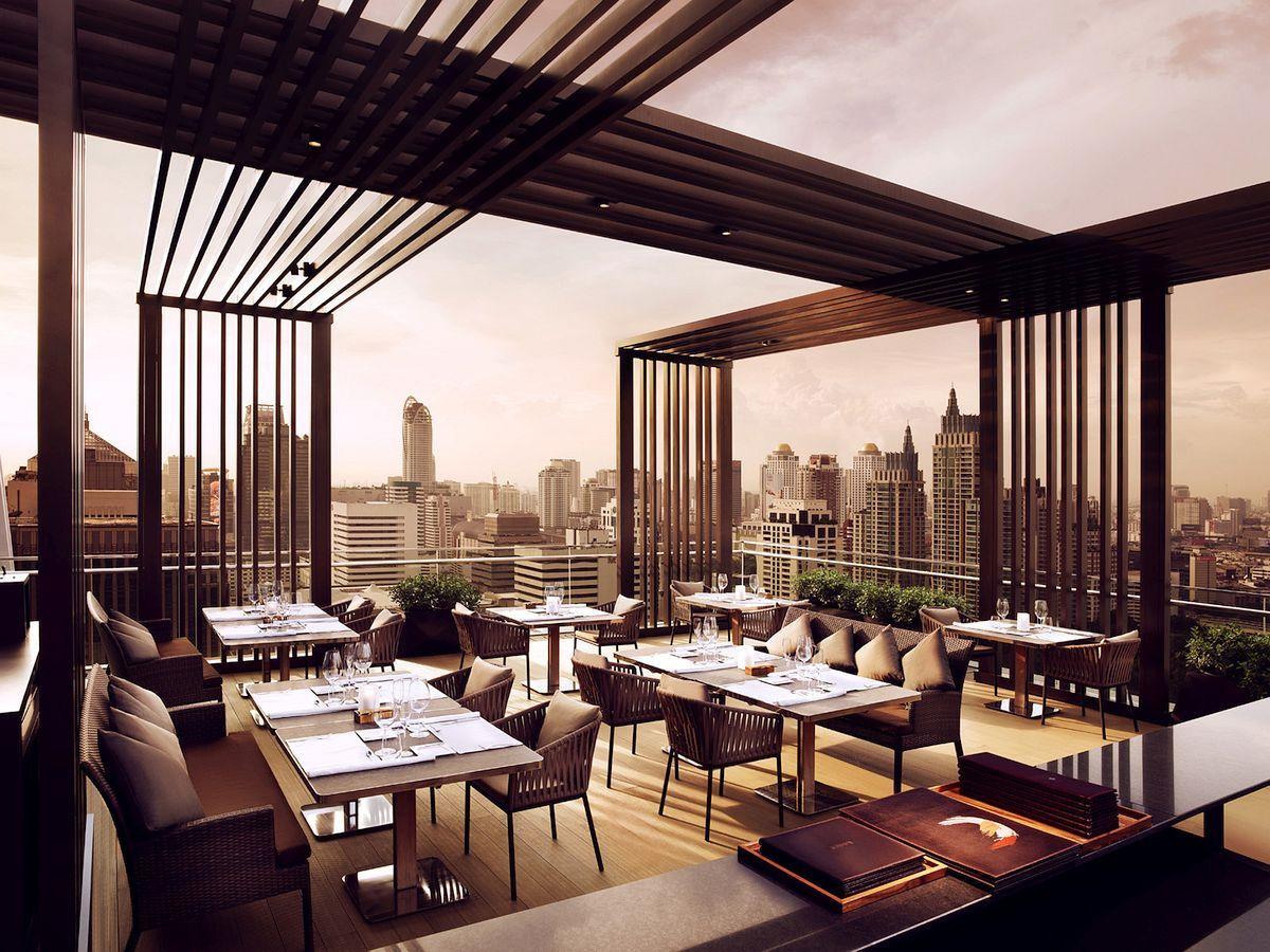 Fine dining restaurant exterior - Rooftop Restaurant In Bangkok