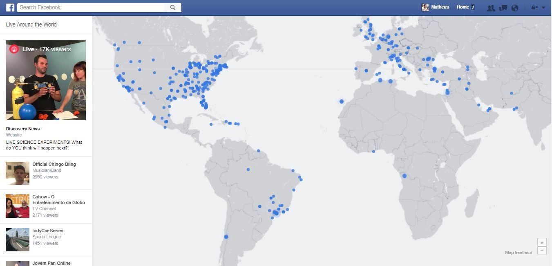 Live Map Facebook Lanca Mapa Com Transmissoes Ao Vivo No Mundo