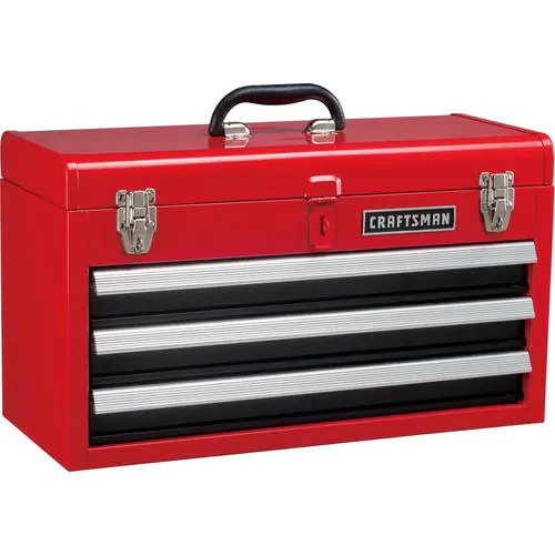 Craftsman Portable 20 5 In Ball Bearing 3 Drawer Red Steel Lockable Tool Box Lowes Com In 2021 Portable Tool Box Portable Tools Tool Box