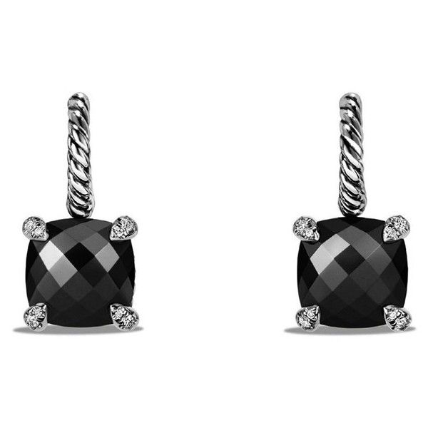 David Yurman 'Châtelaine' Drop Earrings with Semiprecious Stones and... ($1,100) ❤ liked on Polyvore featuring jewelry, earrings, david yurman jewellery, pave diamond jewelry, david yurman jewelry, diamond jewelry and semi precious stone jewelry