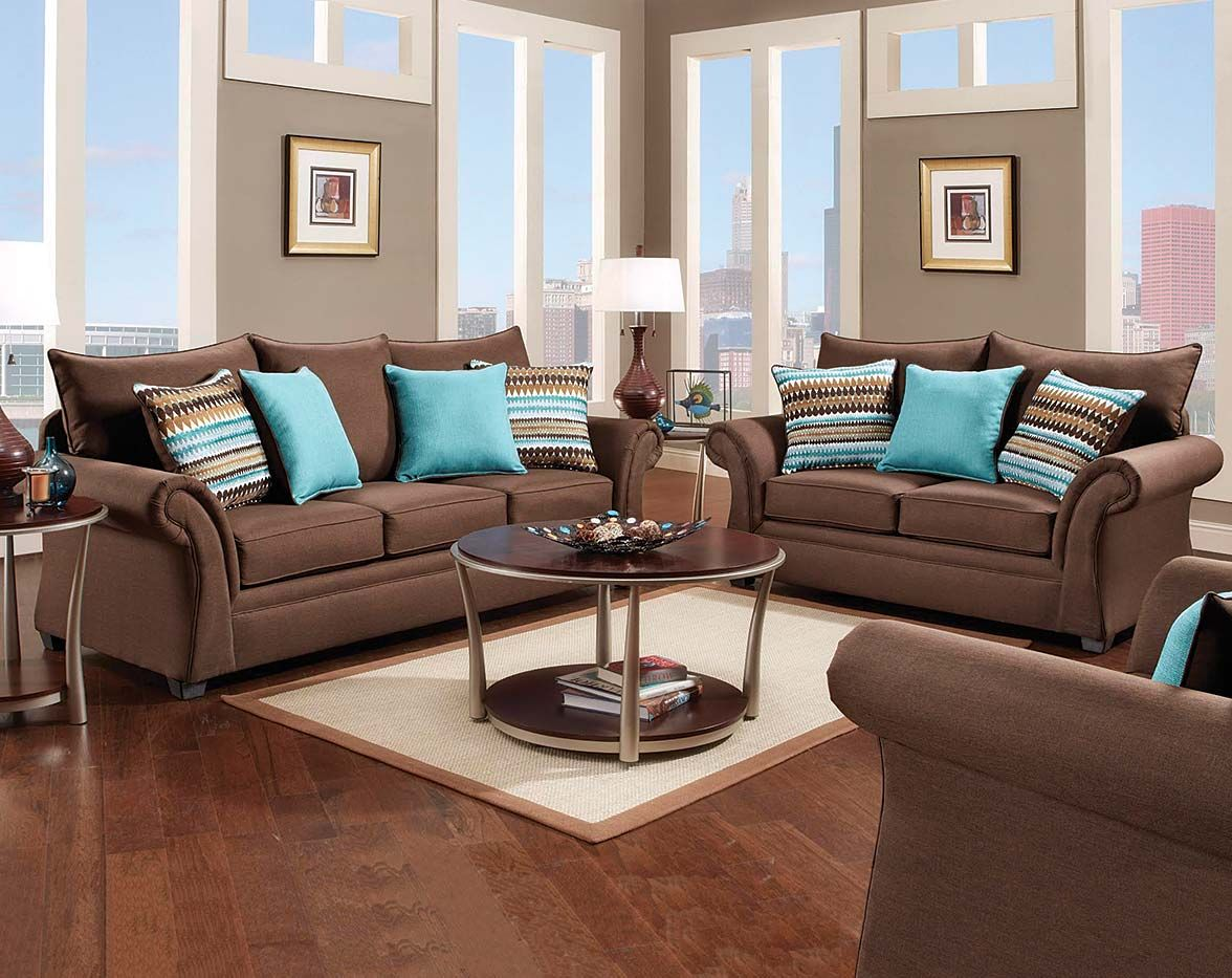 Chocolate Brown Plush Two Couch Set Jitterbug Cocoa Sofa Loveseat Decoracao Com Sofa Marrom Decoracao Sala Sofa Marrom Almofadas Para Sofa Marrom