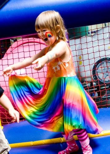 What S Over The Rainbow This Reversible Twirly Dress