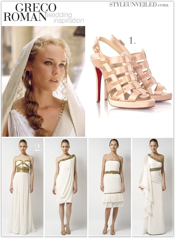 Greco Roman Inspired Wedding Never Given Much Though To My Dream But This