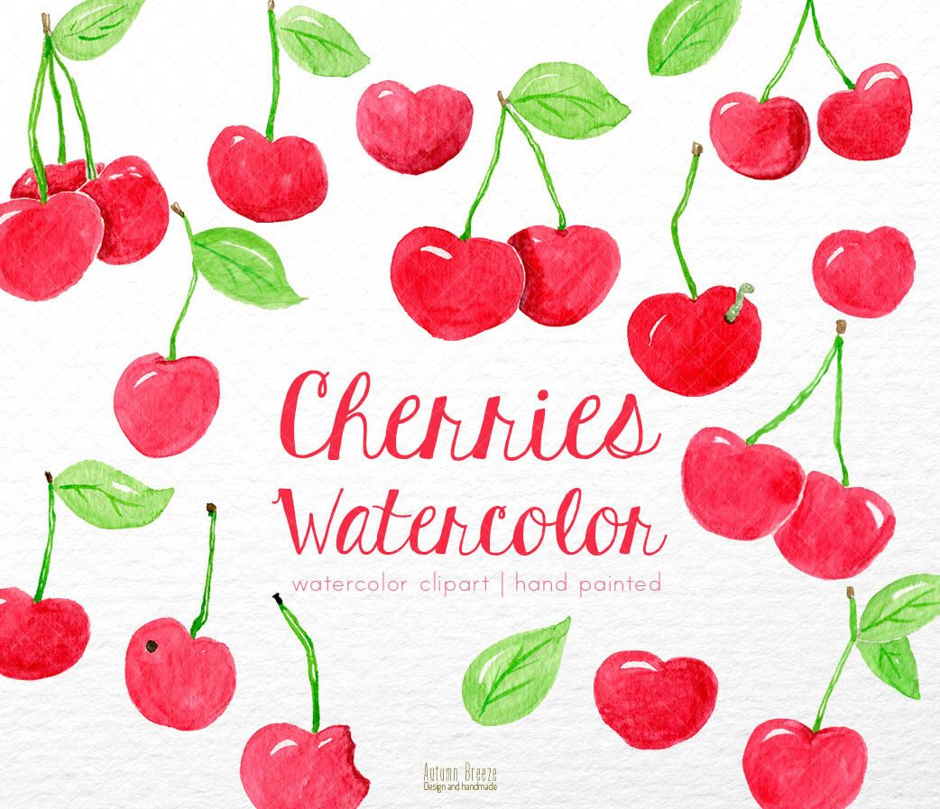 small resolution of watercolor fruit clipart cherry clipart watercolor clip art watercolour clipart red fruits clipart clipart fruits digital clipart