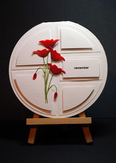 Eileen's Crafty Zone: Crealies Template and a Memory Box Poppy Die