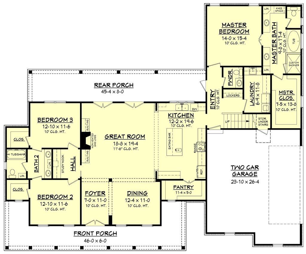 Farmhouse Style House Plan - 3 Beds 2.5 Baths 2282 Sq/Ft Plan #430 ...