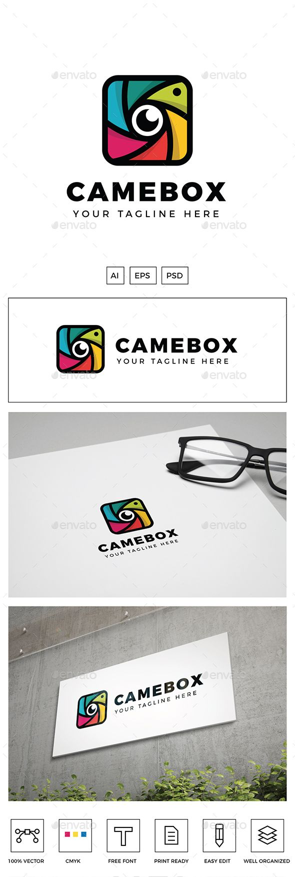 ccamera box logo   is created in adobe illustrator and suitable for camera company tech digital media app software other also rh pinterest