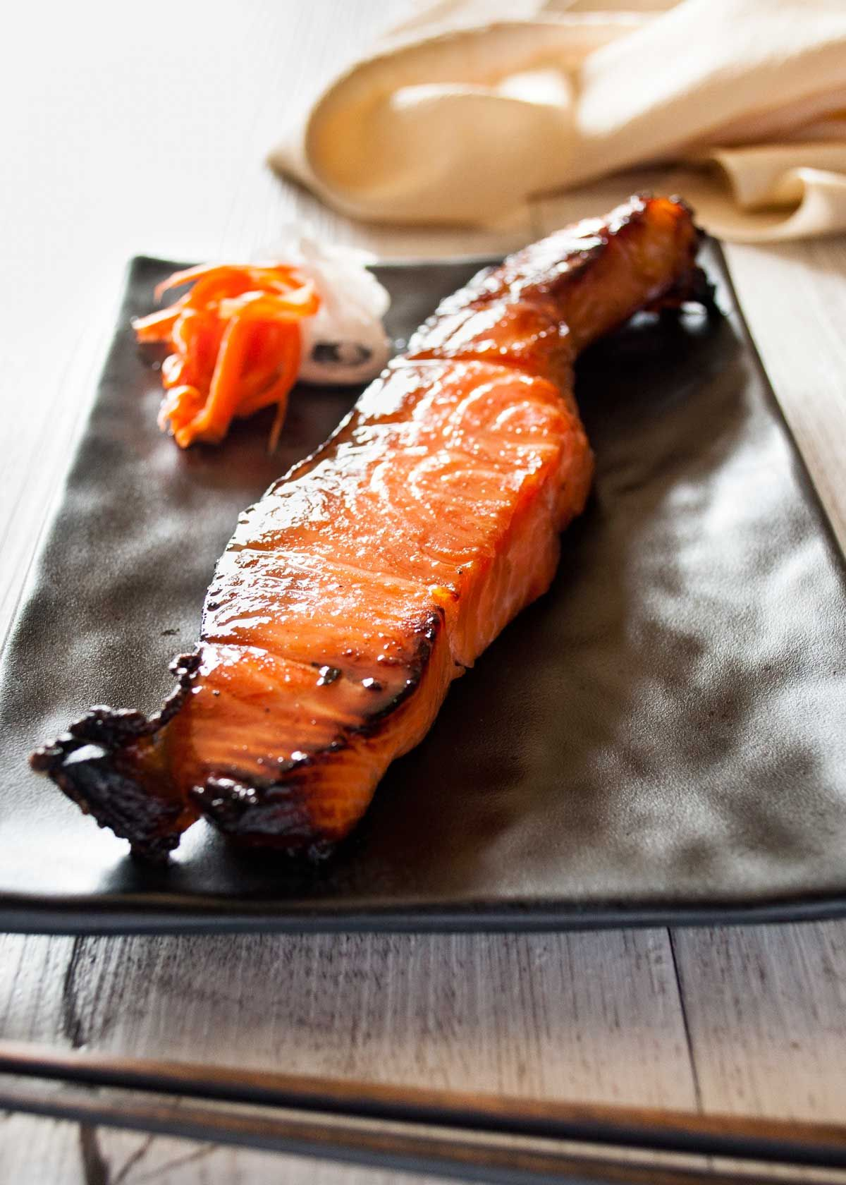 Simply marinating salmon with mirin, soy sauce and sugar will transform the…