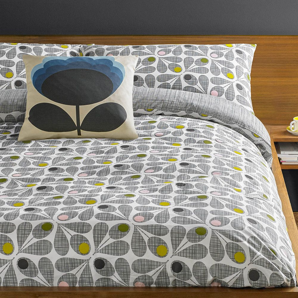 *NEW WITH TAGS* Orla Kiely Scribble Rosebud Duvet Cover Set with Pillowcases