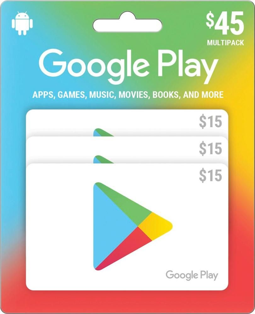Google play 15 gift cards 3pack gift card