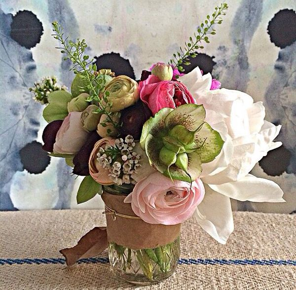 Taylor Tomasi Hill Blooms | Large green, pink + white flower heads ...