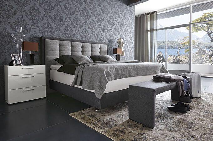 Billig schlafzimmer set mit boxspringbett Schlafzimmer