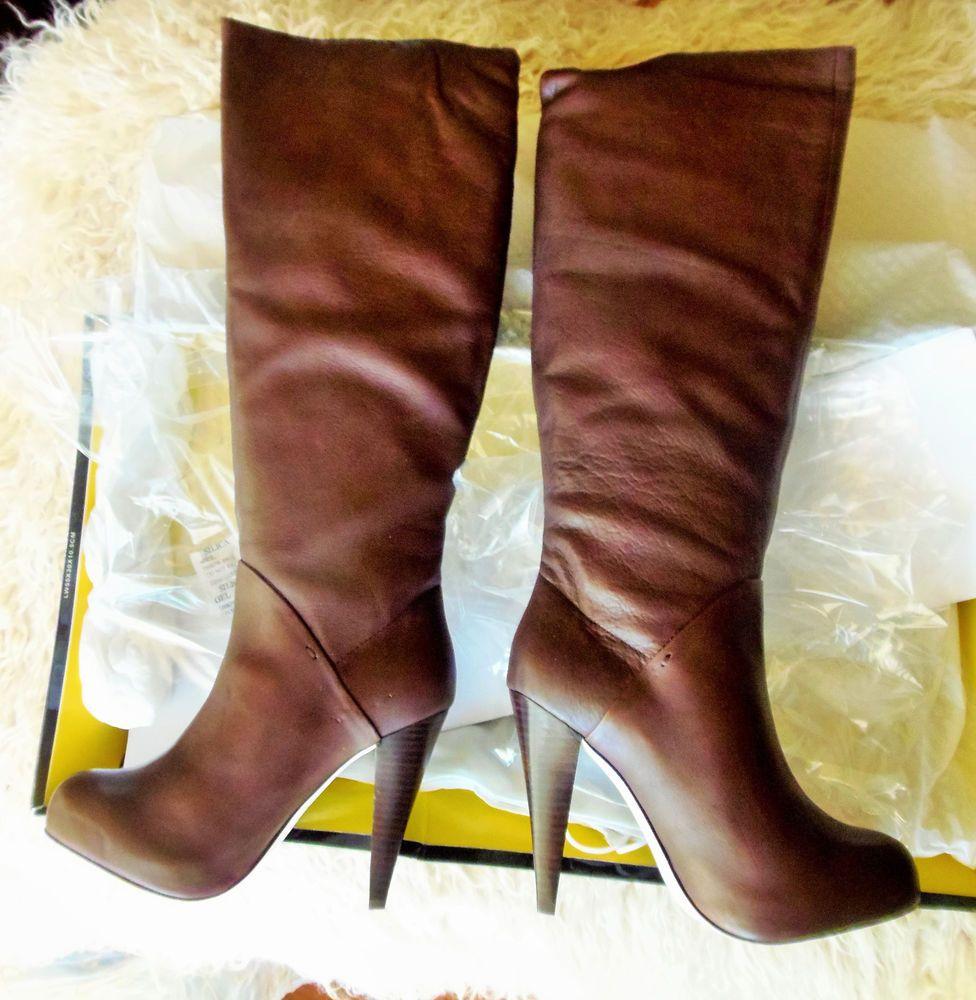 Dolce Vita hidden platform leather high heel boots, NWB, 6M