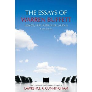 essays warren buffett cunningham Essays of warren buffett by lawrence a cunningham and a great selection of similar used, new and collectible books available now at abebookscom.