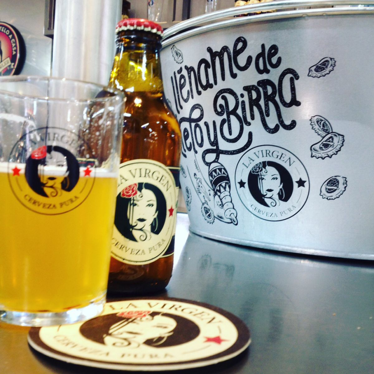 Cervezas La Virgen En El Mercado De Vallehemoso Cerveza Mercado
