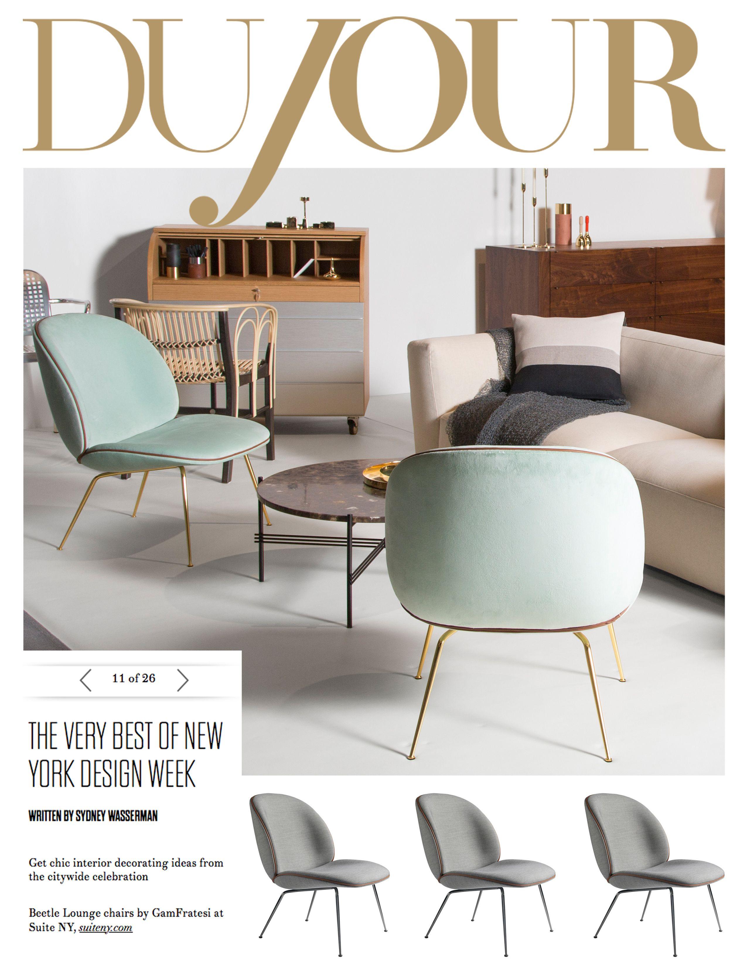 beetle lounge chair gamfratesi dujour magazine online icff 2015 best
