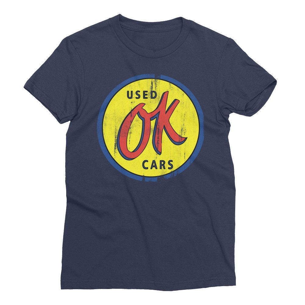 OK Used Car Button Sign Vintage Women's Short Sleeve T-Shirt