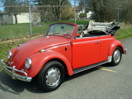 1967 vw beetle 1500 convertible project for sale at ebay the cabriolet is located in seattle. Black Bedroom Furniture Sets. Home Design Ideas