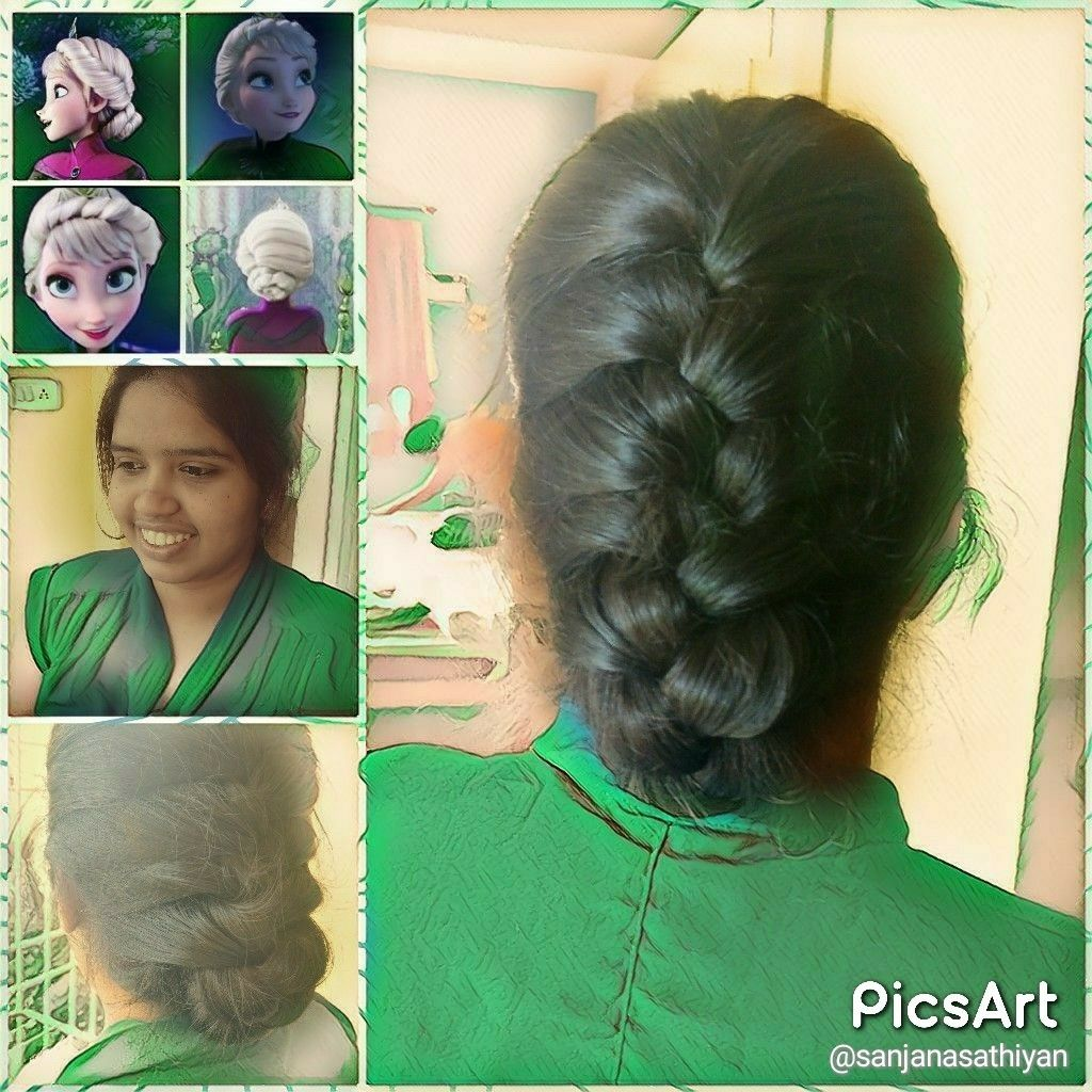 Elsa coronation hairstyle. A French braid and don\'t forget to tuck ...