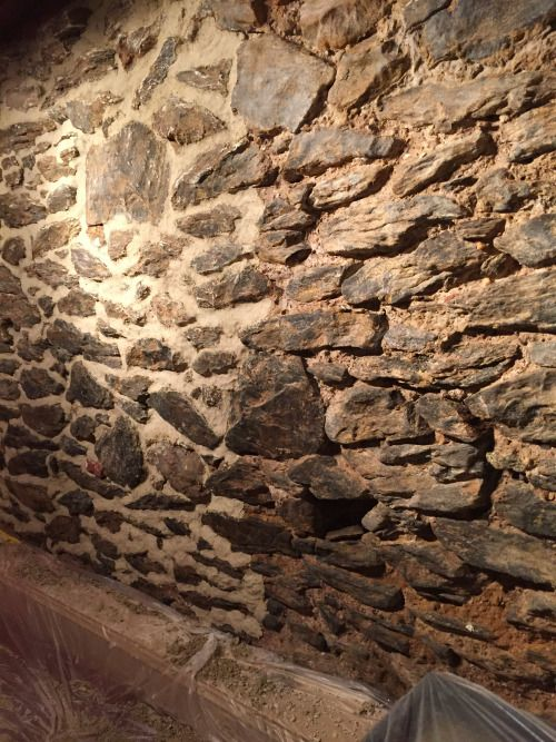 Repointing A Stone Wall With Lime Mortar Basment Make