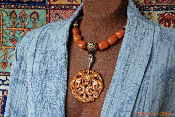 Artisan Handmade Necklace By Barefootbirdsartistry Afro Asian