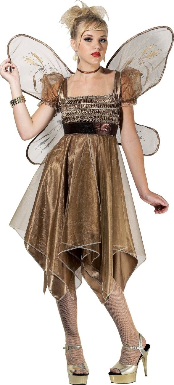 Metallic Copper Fairy Teen Costume  sc 1 st  Pinterest : teen fairy costumes  - Germanpascual.Com