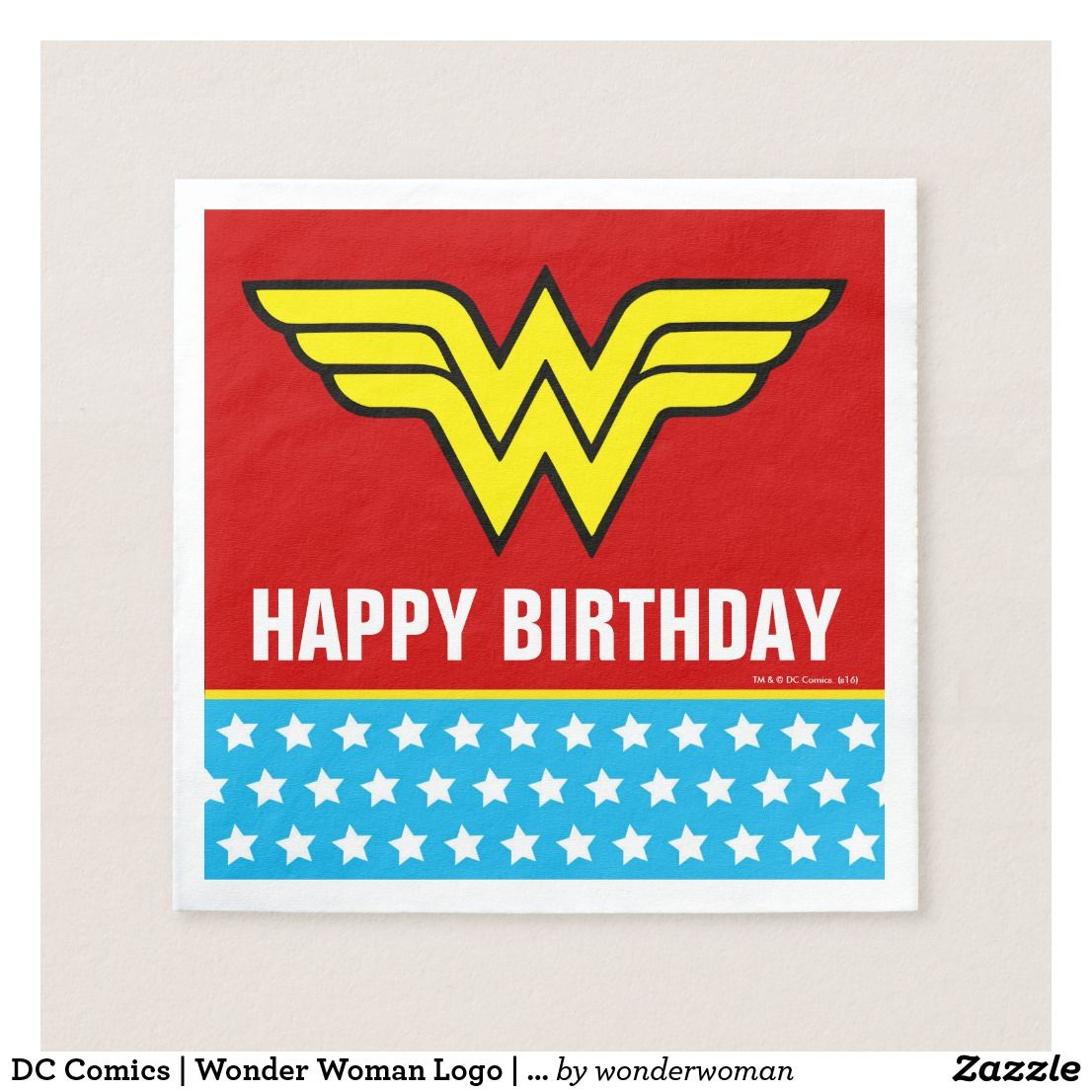 Dc Comics Wonder Woman Logo Happy Birthday With Images