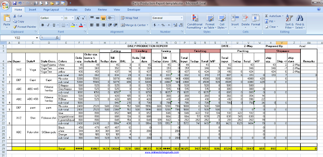 In planning and scheduling production activities. Daily Production Report Excel Template Free Download Excel Templates Excel Templates Free Download