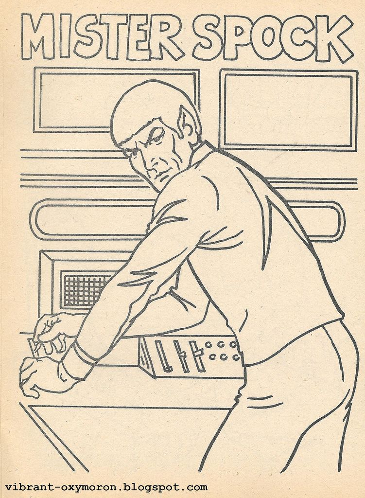 star trek coloring pages | Star Trek Color and Activity Books - 1978 ...