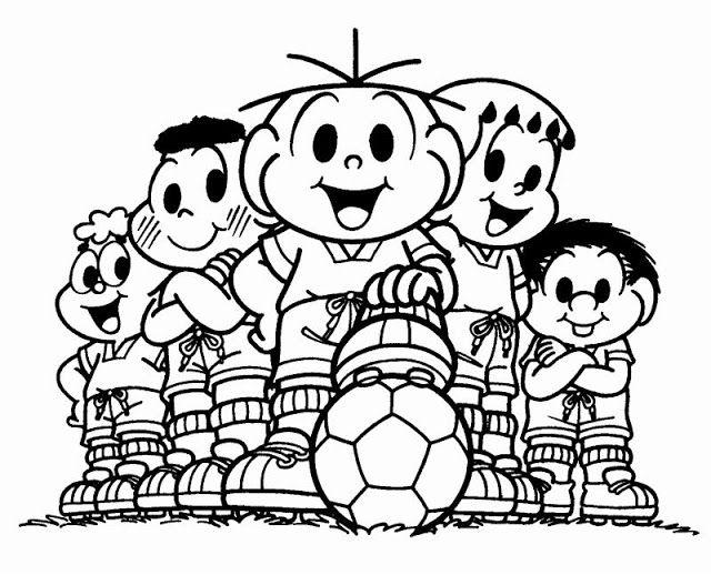 Futebol Imagens Para Colorir Em 2020 Monica Para Colorir