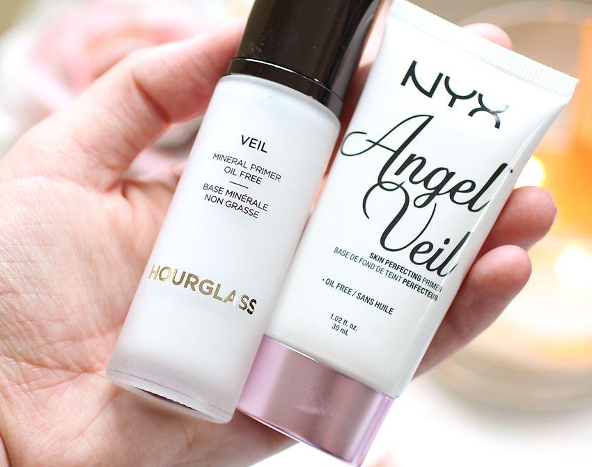 A Comparison Between Hourglass Veil Mineral Primer And Nyx Angel Veil Primer Nyx Angel Veil Hourglass Makeup Hourglass