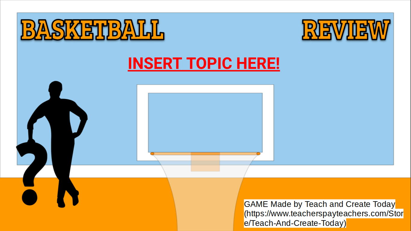 Basketball March Madness Review Game For Any Subject In