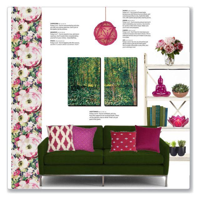 Dark Green Fuchsia Living Room Home Decor Living Room Interior Design