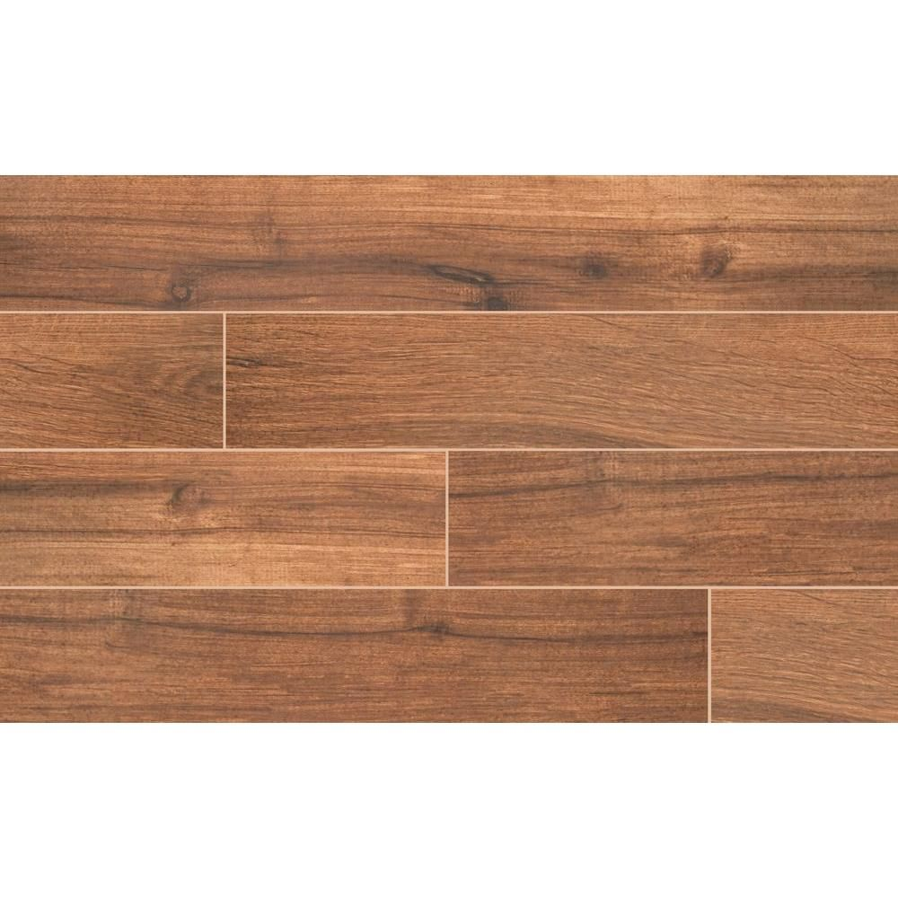 MS International Arbor Chestnut 6 in. x 36 in. Porcelain Floor and Wall Tile (15 sq. ft. / case)