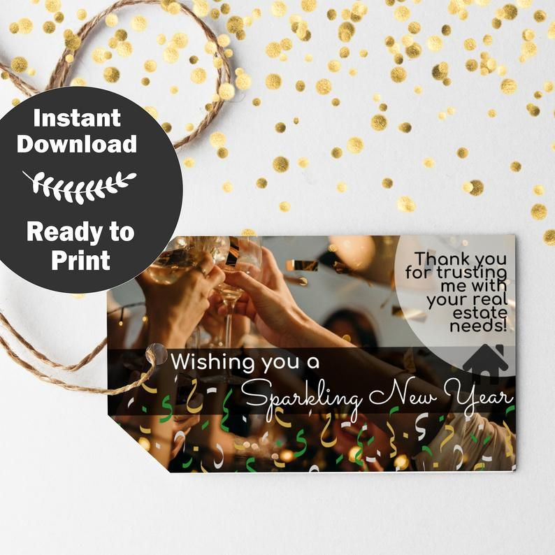 Realtor Pop By Tags Realtor New Year Gift Tag January Etsy In 2020 Real Estate Client Gifts Gift Tags Realtor Gifts
